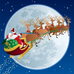Santa against the Moon